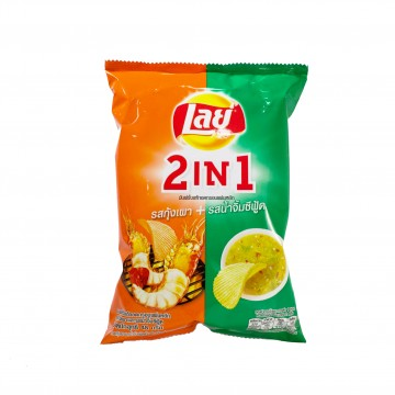 LAY'S - 2 in 1 (Grilled Shrimp & Seafood Sauce) Big Pack 73g